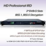 O decodificador profissional HDMI SDI Viode de IRD HD MPEG-4 output o vídeo de SD/HD MPEG-2 e de MPEG-4 AVC/H.264 que descodifica RIH1301