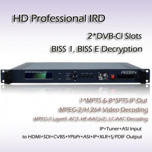 China RIH1301 Professional IRD DVB-S/S2 Receiver Mpeg-4 Decoding Digital TV System HD Decoder on sale