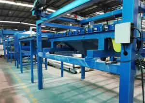 China SGS Rock Wool Sandwich Panel Line Max Panel 10m With Hydraulic Bandsaw Cutting on sale