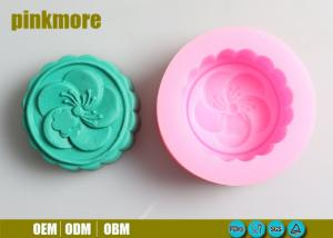 China Flower 3D Silicone Soap Molds , Food Grade Silicone Molds For Cake Decorating on sale