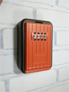 China Outdoor Push Button Wall Mounted Key Lock Box For Door High Security on sale
