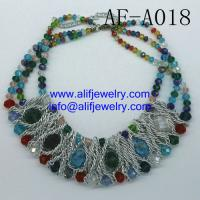 high quality glass beads necklace jewelry for wholesale from china jewelry factory