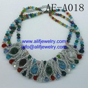 China high quality glass beads necklace jewelry for wholesale from china jewelry factory on sale
