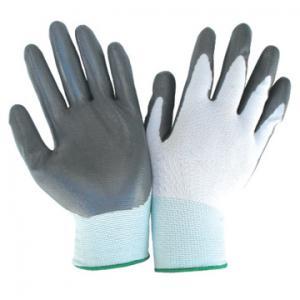 China interlock lining latex coated gloves with orange crinkle fully coated on sale