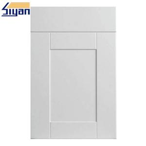 China PVC Film White Wood Grain Kitchen Cupboard Doors Smooth Surface Eco Friendly on sale