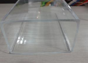 Transparency Rectangular Extruded Acrylic Tube Clear
