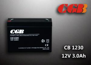 China CB1230 VRLA Lead Acid Battery , Rechargeable Energey Storage AGM Battery 12V 3AH on sale