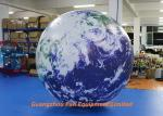 Oxford / PVC Material Giant Inflatable Earth Globe 2m Diameter For Advertising
