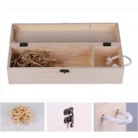 Printed Single Wooden Wine Case 350*100*110mm Size , Wooden Wine Gift Box