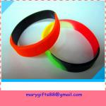 funny subsection color promotional silicone bracelet