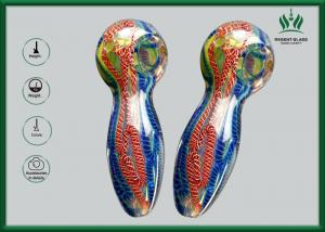 China GP-002 Spoon  Borosilicate Glass Hand Smoking Pipes Glitter Mini Size on sale