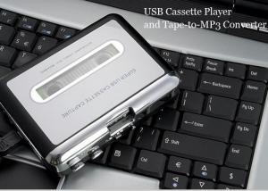 China Auto Reverse USB Cassette Tape Player Converter Black / Sliver Color CE FCC Certification on sale