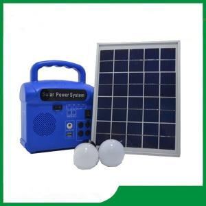 China Mini solar energy system with radio, 2pcs led lamp, cell phone charger, portable solar system sale on sale