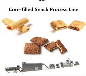 China 100~500 kg/Hr Snack Food Production Line Chocolate Ball / Chocolate Pillow Filled Puff supplier