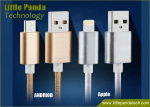 China Popular Double-Faced Metal Plug Micro USB Cable for Samsung and Andriod Phone Colorful USB Data Cable on sale