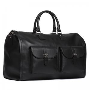 China Stylish Leather Suit Weekender Bag , Convertible Mens Suit Garment Bag on sale
