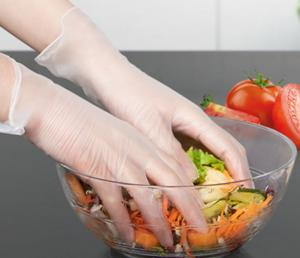 China Professiona Latex Free Disposable Gloves Plastic Gloves For Serving Food on sale