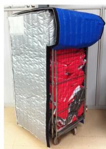 China Industrial Insulated Roll Container Cover Side Opening With Velcro CE on sale