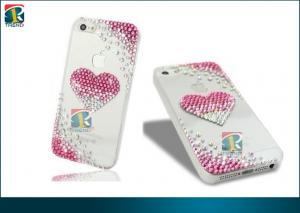 China Sparkly Heart Design Diamond Blings Case Cover Hard Case Cover For Iphone 5 Protective Case on sale