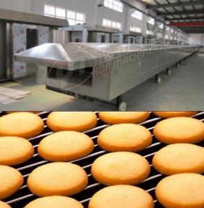 China Gas tunnel oven 1000mm width Large Scale industrial baking equipment tunnel oven for cookie biscuit cake bread on sale
