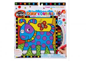 China DIY Preprinted Arts And Crafts Toys Fabric Painting Toy 6 Color 9 - Inch For Girls on sale