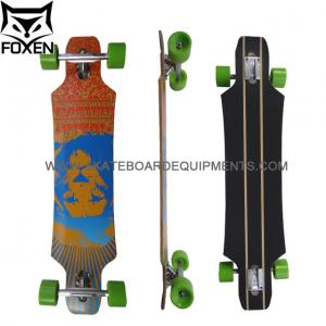China Foxen pro quality drop through style longboard complete LD-162, made from 7ply canada maples on sale