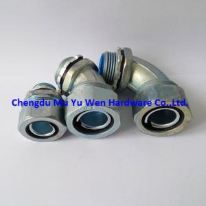 China Straight, 90d, 45d G thread liquid tight zinc alloy conduit fittings from 3/8 to 4 in China on sale