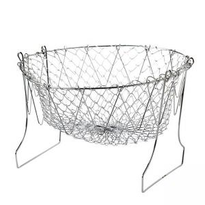 China Foldable Chef Basket / French Fry Basket Durable Stainless Steel 304 Made on sale