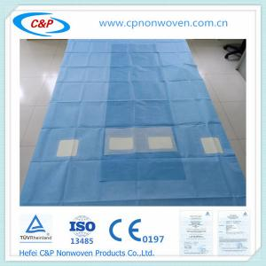 Quality Medical Radial Femoral Angio Drape with 2 Windows for sale