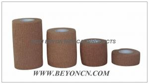 China Latex free Medical Cohesive Cotton Elastic Bandage For Dressing And Splint Fixation on sale