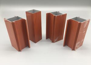 China 6063 T4 Senegal Wood Finish Aluminium Profiles , Anodized Aluminum Extrusions on sale