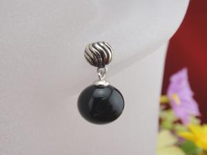 China 925 Sterling Silver Onyx Gemstone  Drop Earrings Jewellery on sale