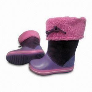 China Children's Winter Boots with TPR Anti-slip Outsole Design and Ultra-soft Rubber EVA Upper/Outsole supplier