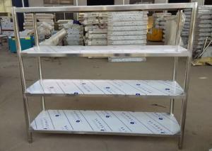 China Industrial Heavy Duty Stainless Steel Storage Shelves , 5 Feet Long Open Metal Shelving on sale