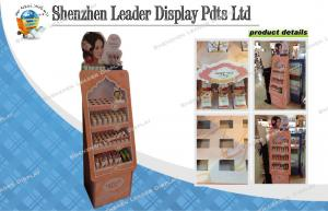 China Glossy laminated 4C Cardboard Display Stands For Cosmetics , Advertising Display on sale