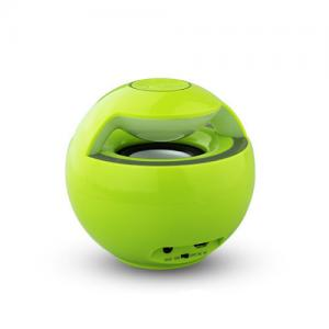 China Unique Green Mini Stereo Bluetooth Speakers with USB and Microphone on sale