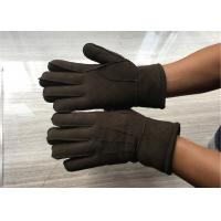Handsewn Sueded Lamb Shearling Gloves , Black Mens Winter Mittens