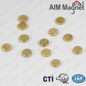 China mini gold-plated disc magnet with Screw thread on sale