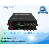 4-ch HD-SDI video to FC singlemode Optical fiber media converter,applicable security monitoring cameras