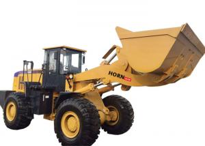 China Yellow Articulated Wheel Loader Heavy Construction Machinery 6000kg Rated Load on sale