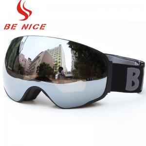 China Low Light Ski Snowboard Goggles , Rainbow Ski Goggles With 3 Layers High Density Foam on sale