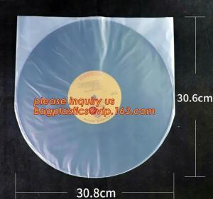 China Biodegradable Resealable Clear Plastic Cd Sleeves album Packaging Bags,CD bag PP bag CD protective film for disk bag pac on sale