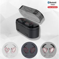 China 2019  mini ture wireless earbuds,Bluetooth 5.0 stereo earphones with detachable earfins,earphones with LED light on sale