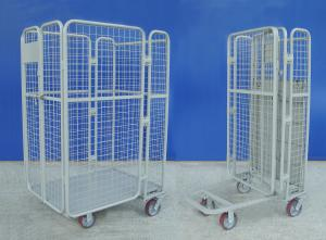 China Supermarket Wire Mesh Cart Durable Galvanized Rolling Hand Trolley Cart on sale