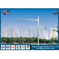 Double Arms Camera Mounting Post Traffic Monitoring Galvanised Steel Pole