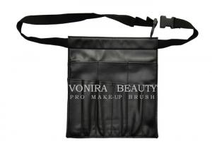 China Faux Leather Small Hip Makeup Brush Artist Waist Bag With Belt Strap on sale