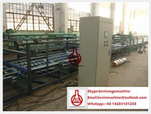 China Cadena de producción del tablero del Mgo, máquina ligera del panel de pared del rollo del sistema en doble canal del estilo on sale