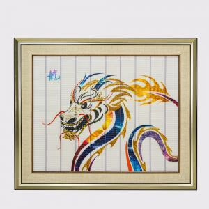 China Dragon Chinese Zodiac Artwork , Framed Decorative Paintings For Living Room on sale