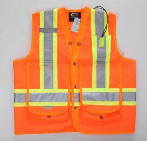 China Chaleco reflexivo de la seguridad de los equipos de los primeros auxilios de la alta visibilidad con los bolsillos on sale