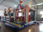 Circus Clown Themed Inflatable Fun City For Multiplay 2 - 3 Years New Inflatable Clown Obstacle Course